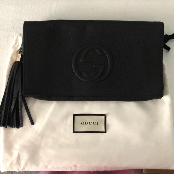 247dacb9caef Gucci Bags   Soho Leather Envelope Blk Tassel Clutch   Poshmark